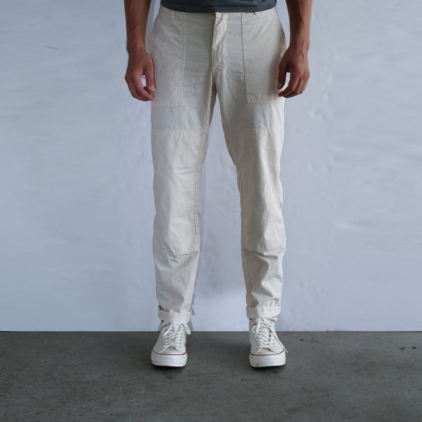 Bedford Twill Double Knee Pant - White