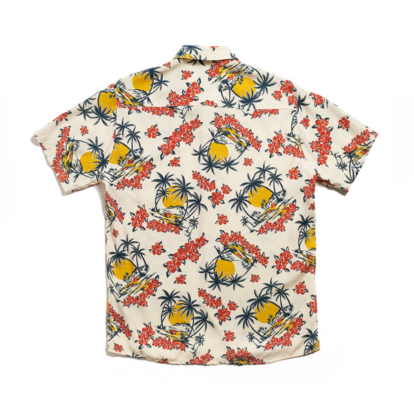 Hawaiian Shirt - White Floral