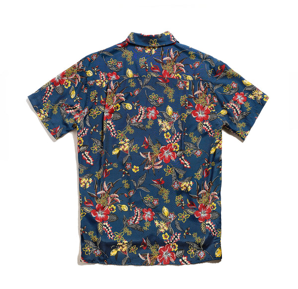 Hawaiian Shirt - Blue Floral