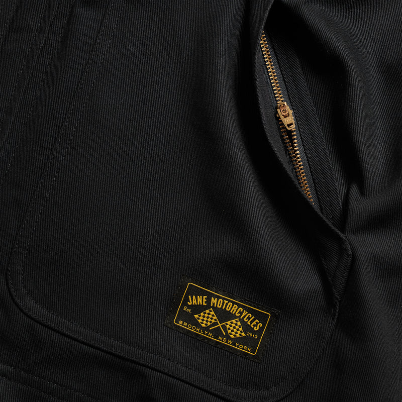 Limited Edition Chenille Skull Mechanic's Jacket - Black