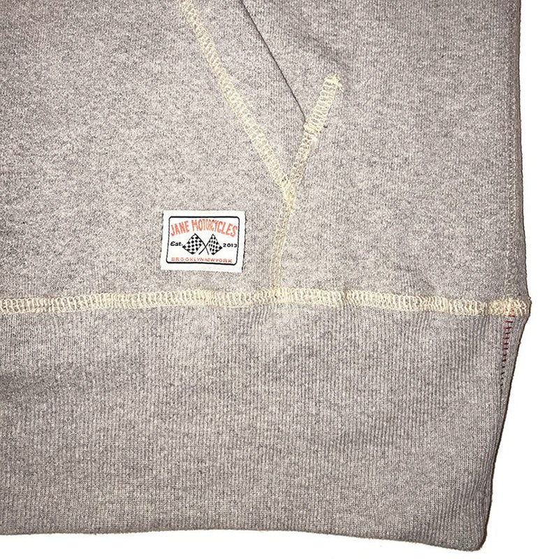 JANE ORGANIC COTTON HOODED SWEATSHIRT - Heather Grey