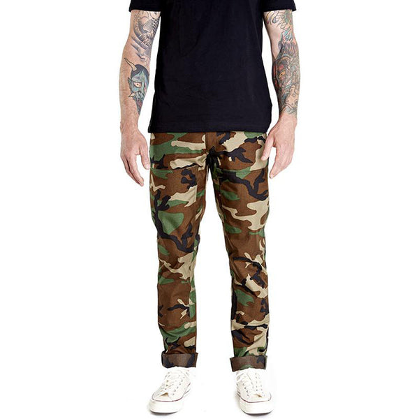 DK-161 DOUBLE KNEE RIDING PANTS - CAMO CORDURA