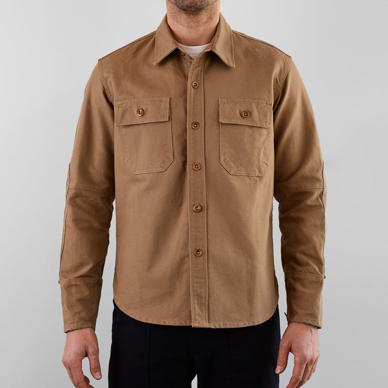 THE MERCER CPO Riding Shirt - Khaki