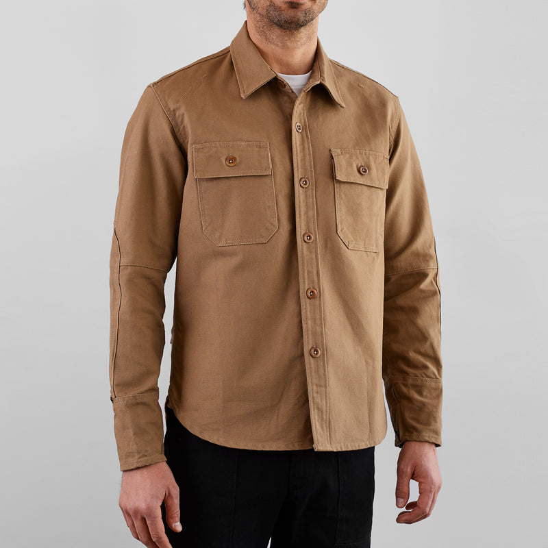 THE LIMITED EDITION SKULL EMBROIDERED MERCER CPO Riding Shirt - Khaki