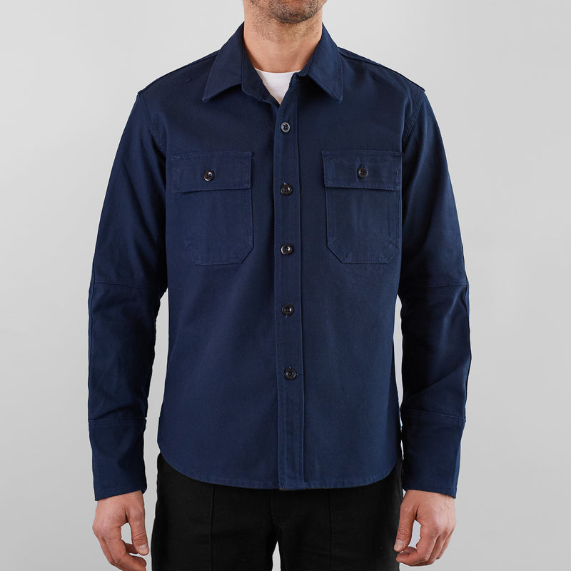 THE MERCER CPO Riding Shirt - Navy