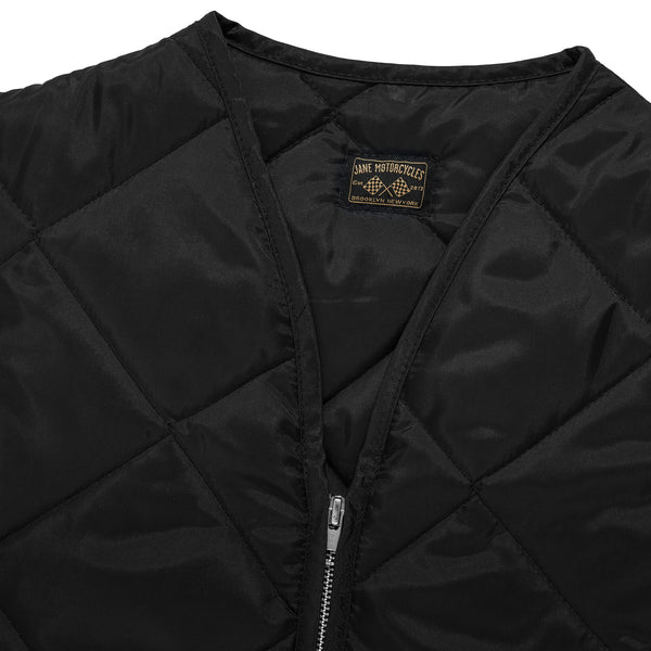 THE UNION QUILTED VEST - Black