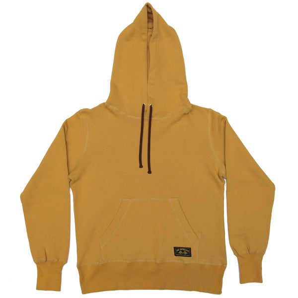 JANE ORGANIC COTTON HOODED SWEATSHIRT- MUSTARD YELLOW