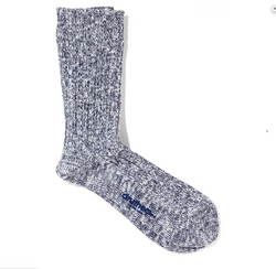 Druthers Organic Cotton Ribbed Slub Crew Socks