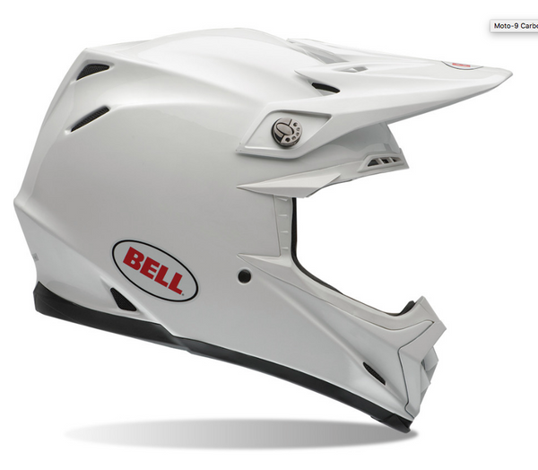 BELL MOTO 9 Carbon Flex White