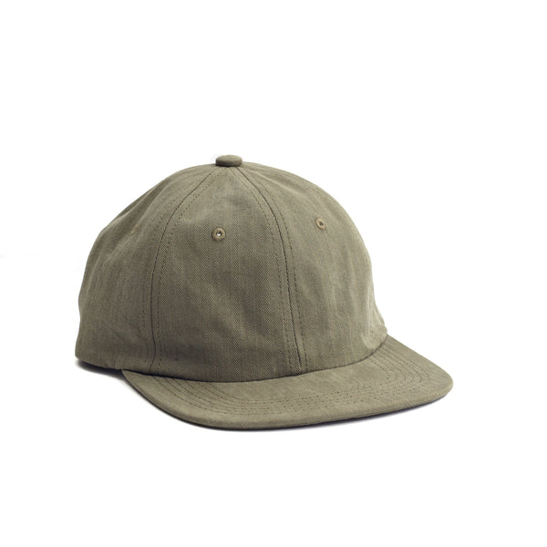 Herringbone Ball Cap - Olive
