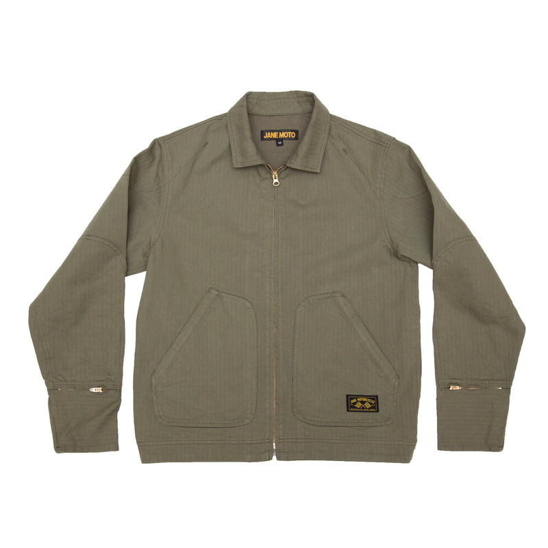 Mechanic's Jacket - Olive Herringbone