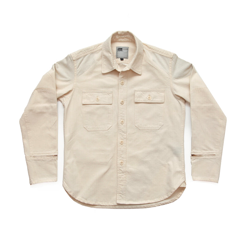 THE MERCER CPO Riding Shirt - NATURAL
