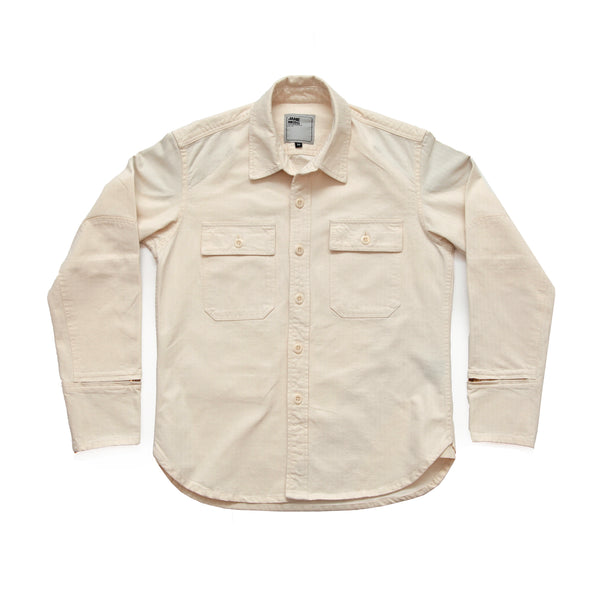 THE FLYING TIGER MERCER CPO Riding Shirt  - Natural Herringbone