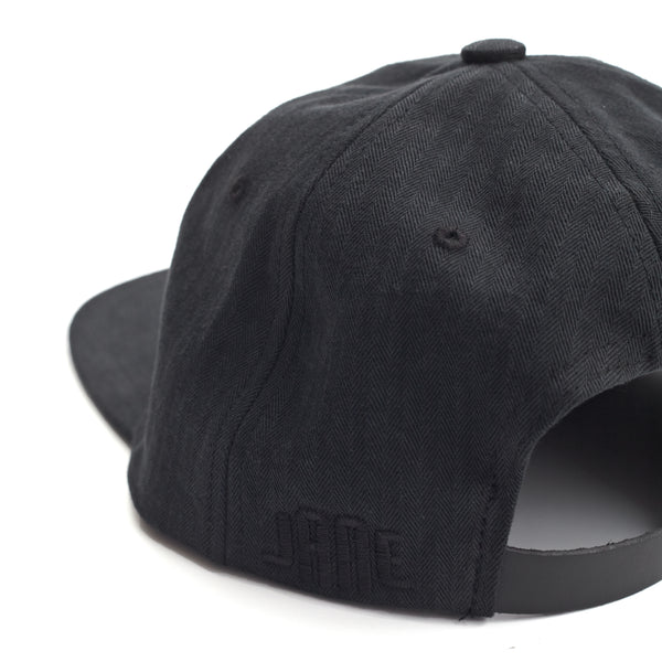 Herringbone Ball Cap - Black