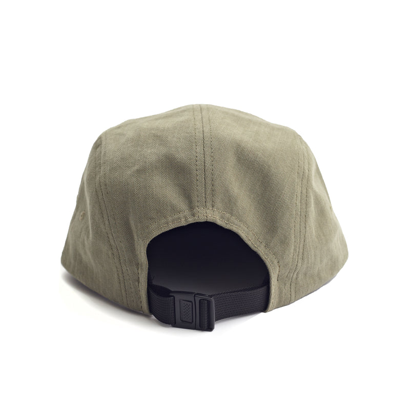 Herringbone 5 Panel Cap - Olive