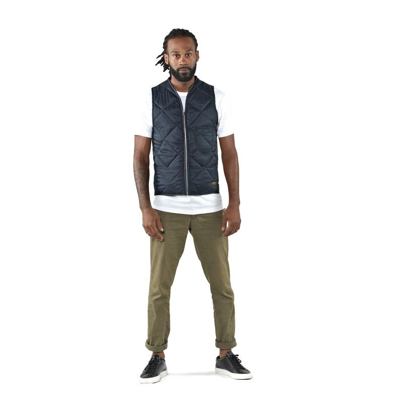THE UNION QUILTED VEST - Navy