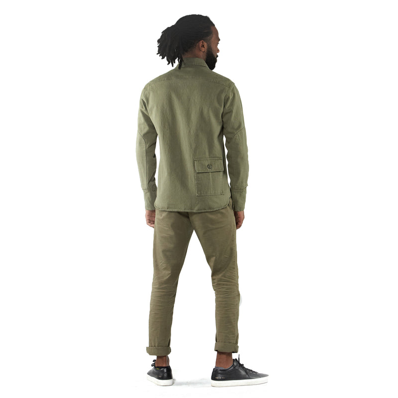THE MERCER CPO Riding Shirt - OLIVE