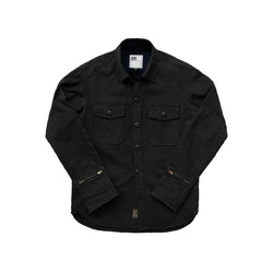 THE MERCER CPO Riding Shirt - Herringbone BLACK