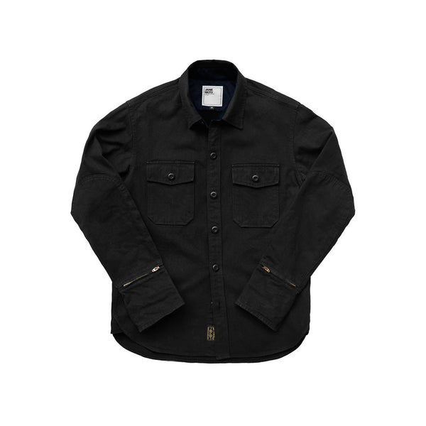 THE FLYING TIGER MERCER CPO Riding Shirt  - Black Herringbone