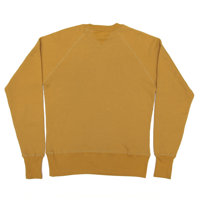 JANE ORGANIC COTTON CREWNECK SWEATSHIRT- MUSTARD YELLOW