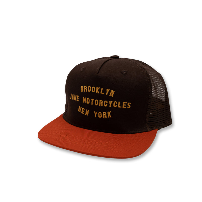 Shop Trucker - Brown Orange Gold
