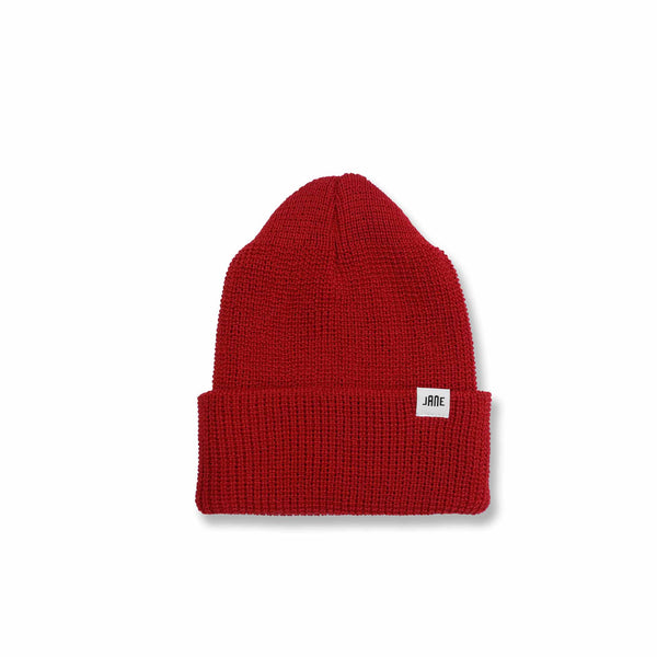 MERINO WOOL WATCH CAP - RED