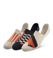 3-Pack Low Cut Socks - Orange Geo Lines