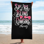Spurs And Bling - Beach Towel
