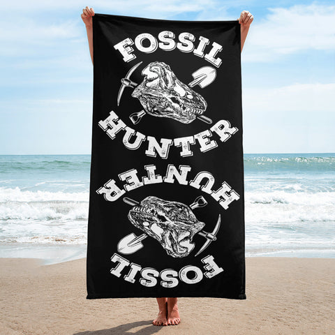 Fossil Hunter - Beach Towel