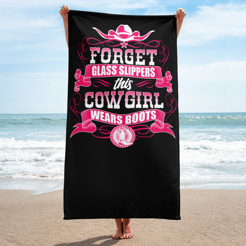 Forget Glass Slippers - Beach Towel