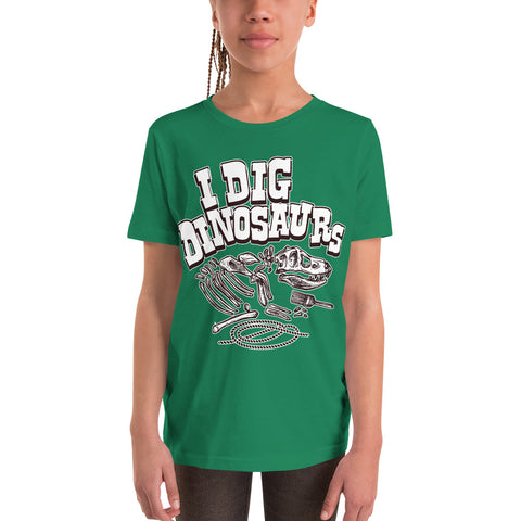 Youth Short Sleeve T-Shirt - I Dig Dinosaurs