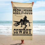 Jake Harris, Cretaceous Cowboy - Dinosaurs And Cowboys - Beach Towel