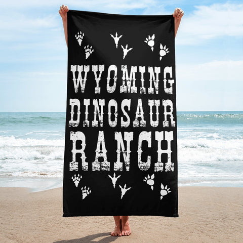 Wyoming Dinosaur Ranch - Footprints - Beach Towel