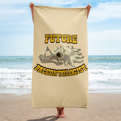 Future Paleontologist - Beach Towel