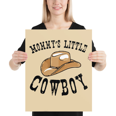 Mommy's Little Cowboy - Poster