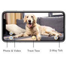 Load image into Gallery viewer, Furbo Dog Camera: Treat Tossing, Full HD Wifi Pet Camera and 2-Way Audio, Designed for Dogs, Compatible with Alexa (As Seen On Ellen), white (001-01WHTOA-1)