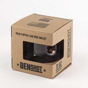 The Original BenShot Bullet Rocks Glass with Real 0.308 Bullet Made in the USA