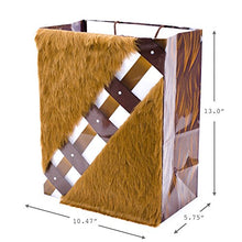 "Load image into Gallery viewer, Hallmark 13"" Large Star Wars Gift Bag (Chewbacca with Faux Fur Accent) for Father's Day, Birthdays, Christmas"