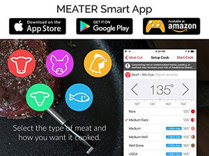 New MEATER+165ft Long Range Smart Wireless Meat Thermometer for the Oven Grill Kitchen BBQ Smoker Rotisserie with Bluetooth and WiFi Digital Connectivity