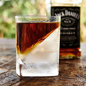 Corkcicle Whiskey Wedge (1 Double Old Fashioned Glass + 1 Silicone Ice Form)