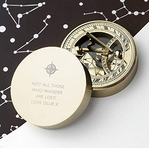 Personalized compass sundial Fathers Day Gift for Dad Compass Personalized Compass Engarved Antique Compass Custom Gift Brass Sundial Compass Fathers day, dad gift