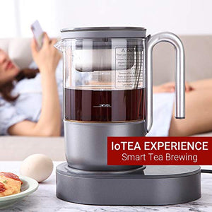 Qi Aerista IoTea Brewer | Award-Winning Smart Tea Brewer | Perfect Tea Maker | 9 Auto Brew Programs | Smartphone App | Herbal Tea | Bubble Tea | Milk Tea | Cold Brew