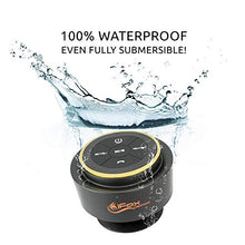 Load image into Gallery viewer, iFox iF012 Bluetooth Shower Speaker - Certified Waterproof - Wireless It Pairs Easily to All Your Bluetooth Devices - Phones, Tablets, Computer, Radio
