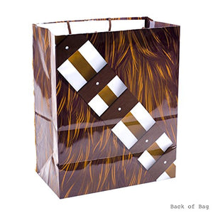"Hallmark 13"" Large Star Wars Gift Bag (Chewbacca with Faux Fur Accent) for Father's Day, Birthdays, Christmas"