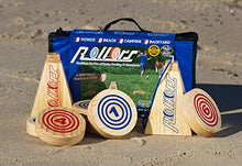 Load image into Gallery viewer, Rollors Backyard Game - The #1 Lawn Game for Summertime Fun, Tailgating, Camping, Parties, BBQs, Picnics & Beach days – All Wood Outdoor Yard Game Combining Horseshoes, Bocce Ball & Bowling