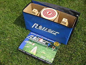 Rollors Backyard Game - The #1 Lawn Game for Summertime Fun, Tailgating, Camping, Parties, BBQs, Picnics & Beach days – All Wood Outdoor Yard Game Combining Horseshoes, Bocce Ball & Bowling