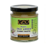 Geo Organics Green Thai Curry Paste (180g jar)