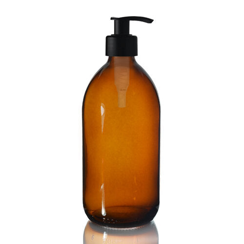 PET Amber Bottle with Pump/Cap (Range of Sizes)