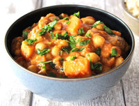 Chickpea, sweet potato & lentil curry