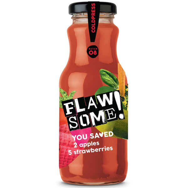 Flawsome! Apple & Strawberry Juice (Various Sizes)